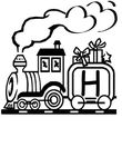 coloriage gratuit Alphabet Trains