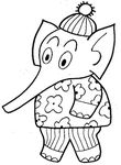 coloriage gratuit Elephants