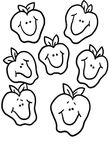 coloriage gratuit Fruits Legumes